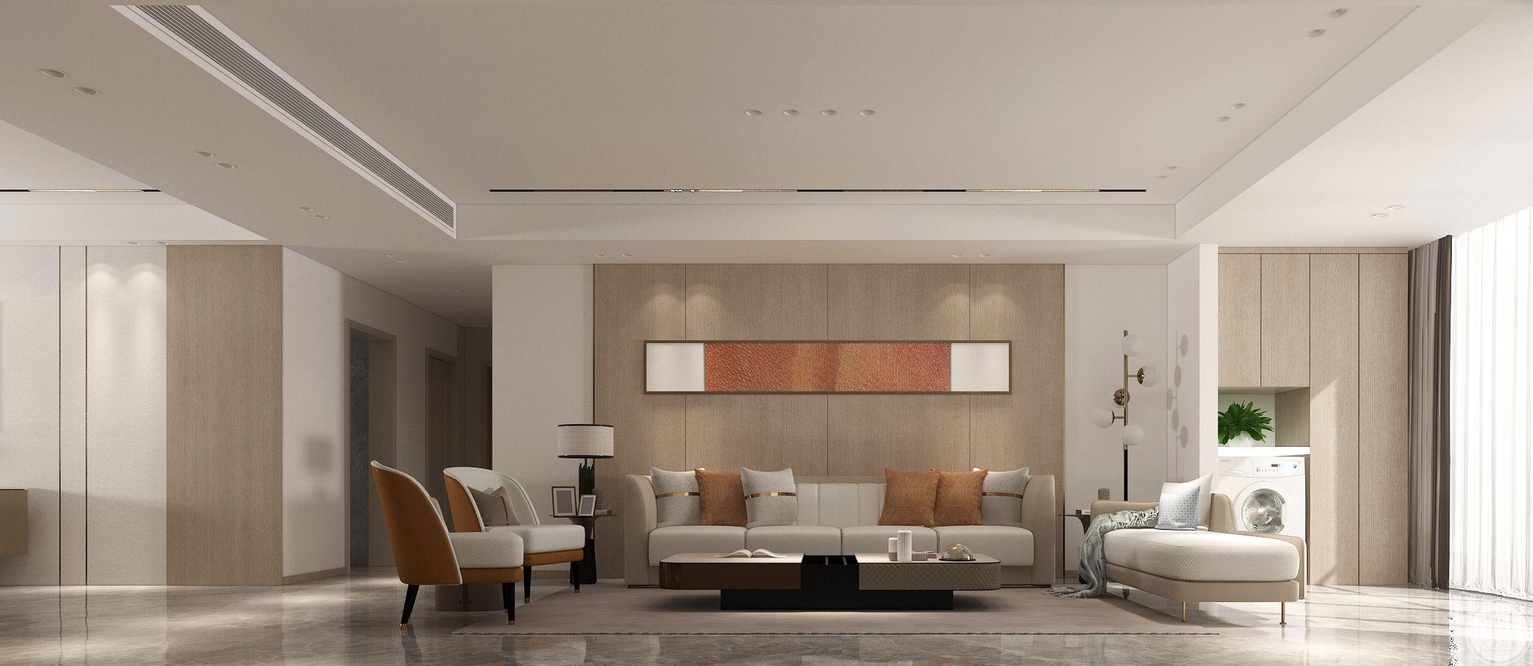 瀚玉城144平现代风格装修设计案例