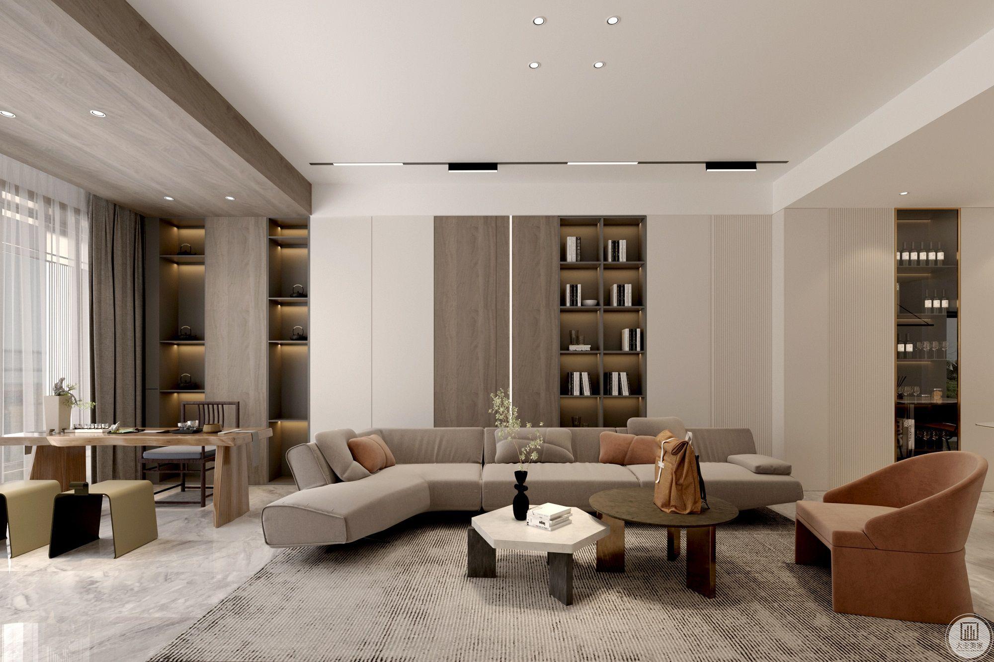 凯悦华庭300平现代风格装修设计案例