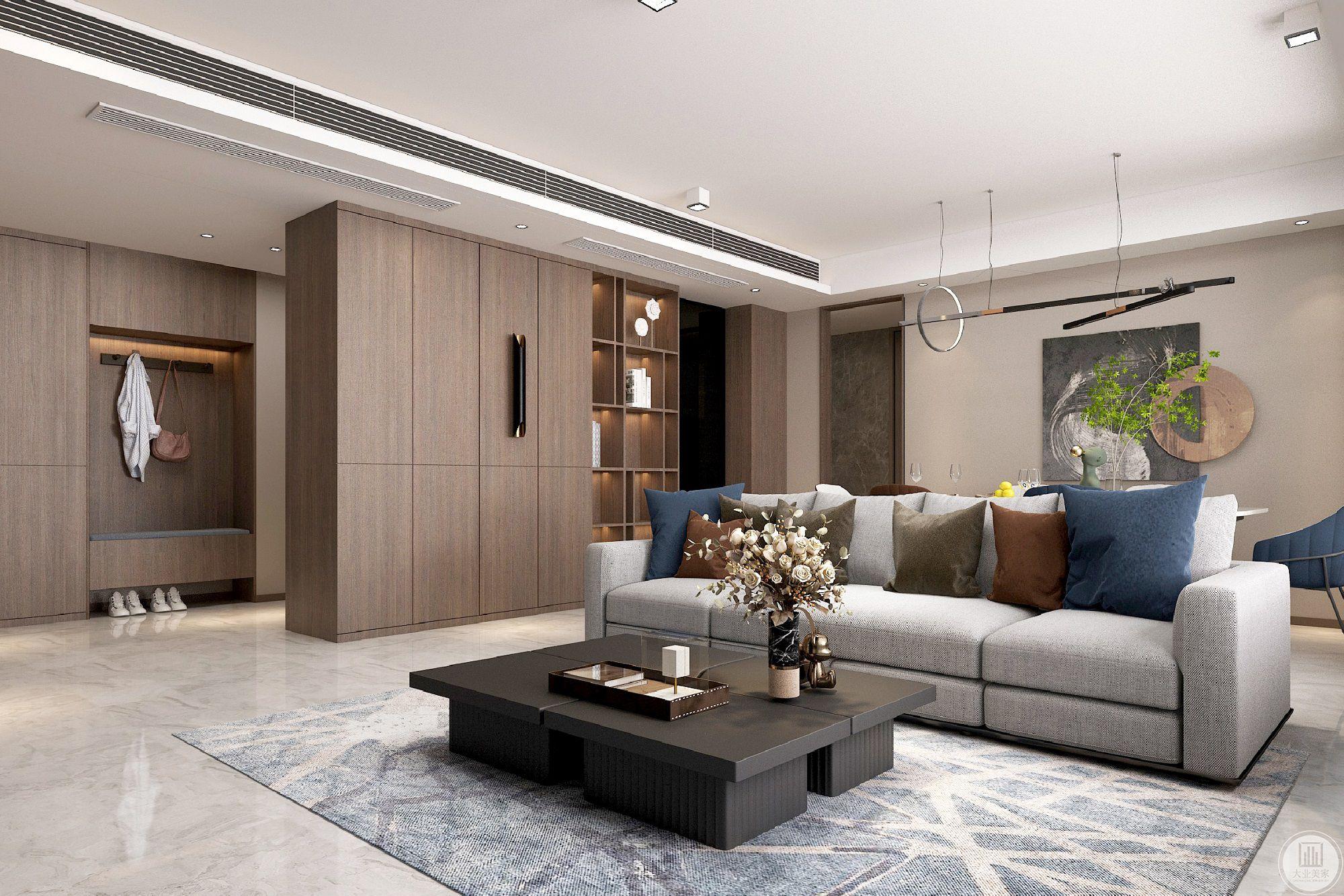 璞悦府130平现代风格装修设计案例