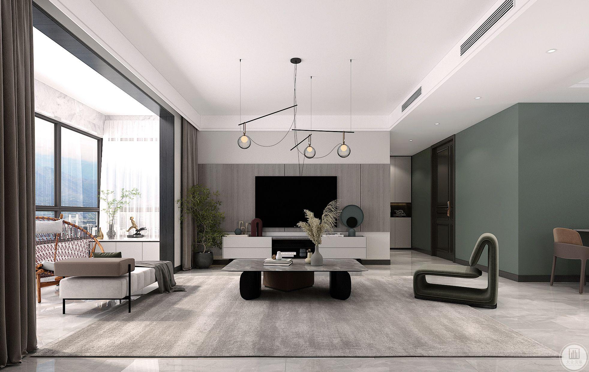 柏仕晶舍175平现代简约装修设计案例