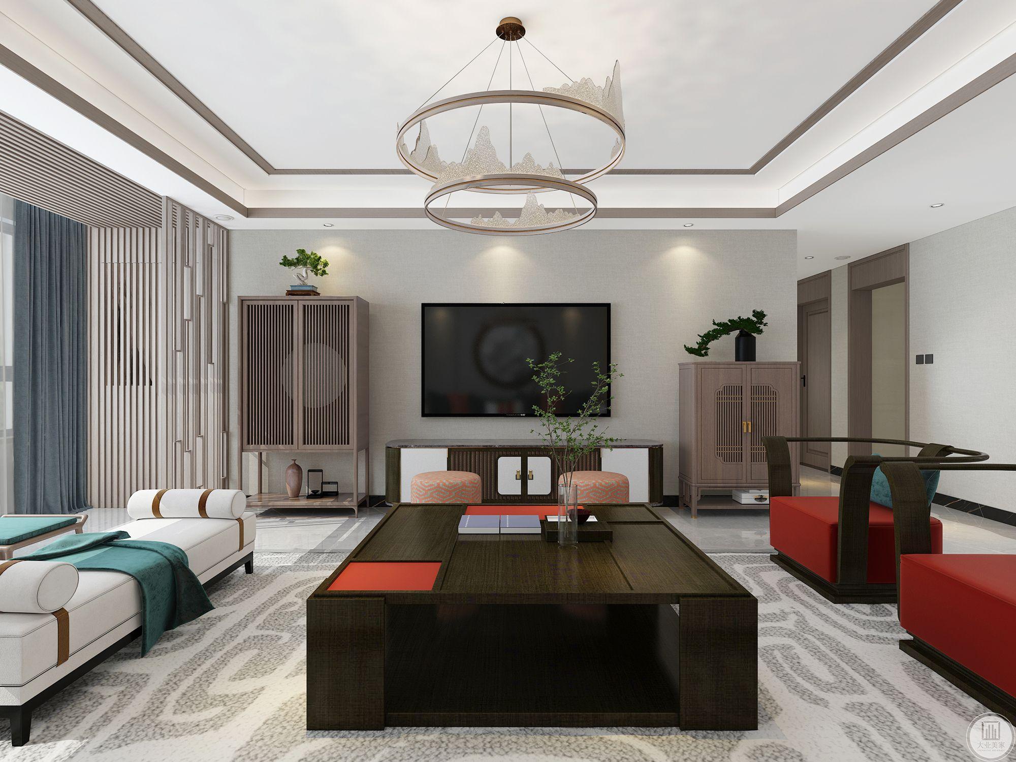 鼎秀家园200平新中式装修设计案例