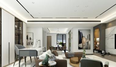 金茂墅320平现代轻奢装修设计案例