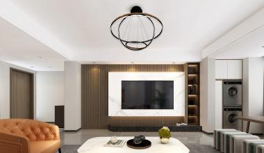 杨柳春风186平现代简约风格装修设计案例