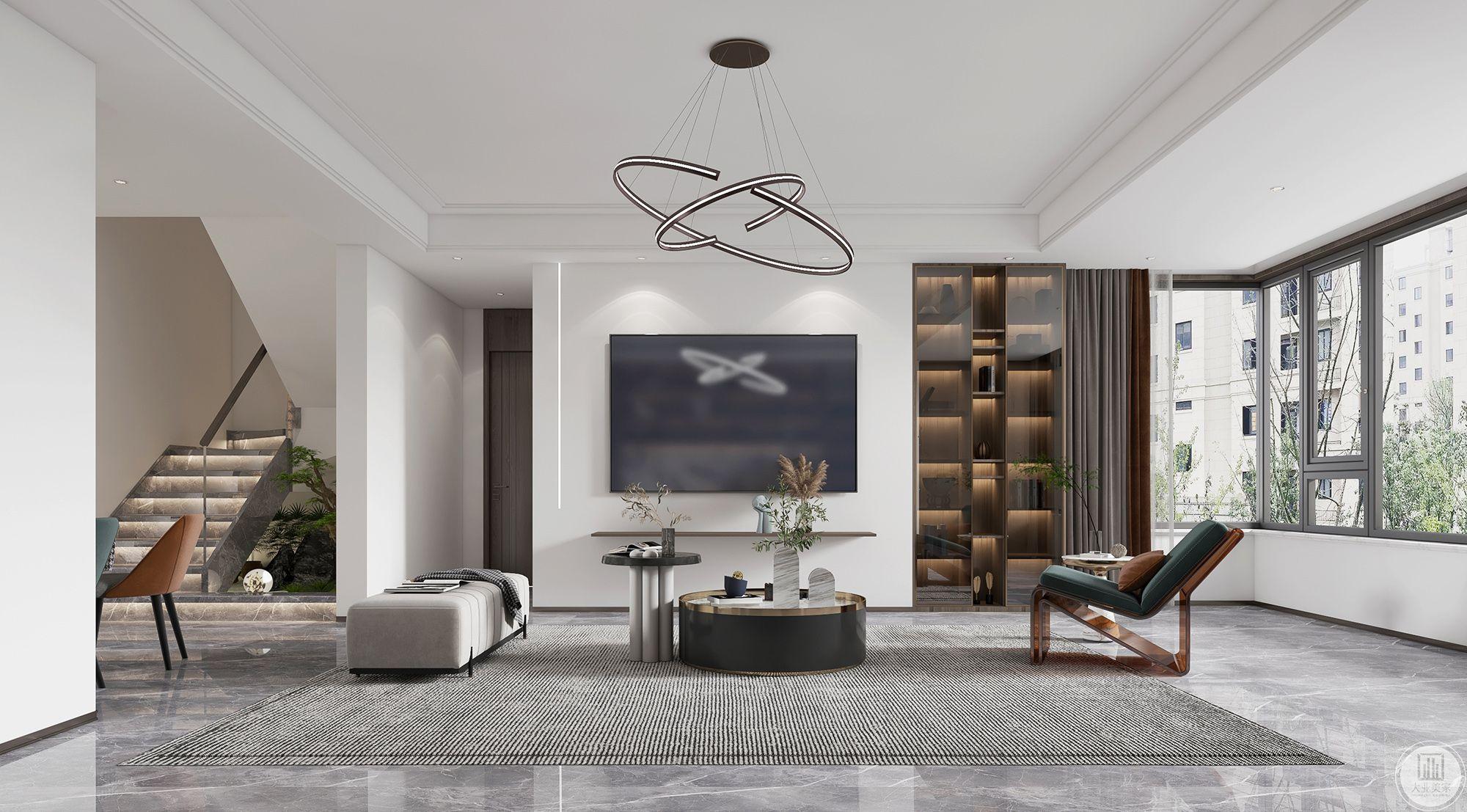 金茂墅248平现代风格装修设计案例