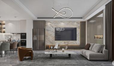 金茂墅280平现代风格装修设计案例